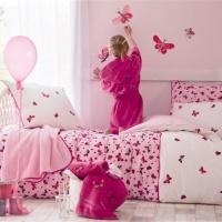 linge de lit enfant catimini envolee de papillons